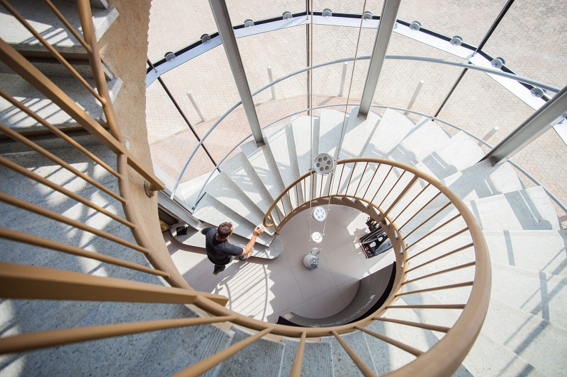 Staircase at a Cambridge PR agency