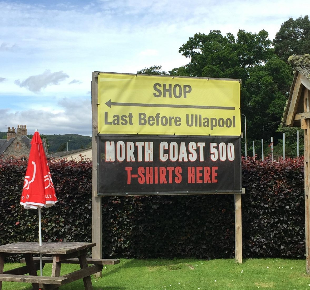 shop sign to demonstrate scarcity in copywriting